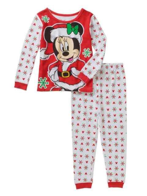 96a32b44c Disney Mickey Minnie Mouse Christmas Holiday Baby Toddler Pajamas Sleepwear  4t. About this product. Disney Infant Toddler Girls Santa Minnie Bow Sleep  Set ...