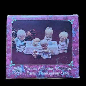 Precious Moments 1991 Miniature Pewter Thanksgiving Scene 614602