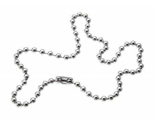 """10 Piezas 4.5 mm de cadena de 17 /""""de largo con conector de placa de Lata Nuevo Precio Más Bajo"""