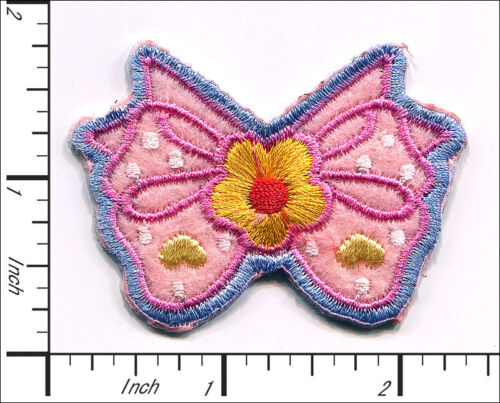"""15 Pcs Embroidered Iron on patches Pink Bow-knot 2/""""x1.6/"""" AP043aA"""