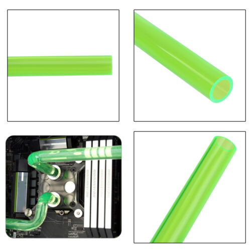 PETG 10x14mm 0.5m Water Cooling Rigid Tube Hard Horse Pipe for PC CPU Cool Green