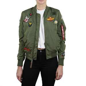 Alpha Industries Damen Jacke MA-1 PM Cropped Wmn Bomberjacke Jacket XS bis XL