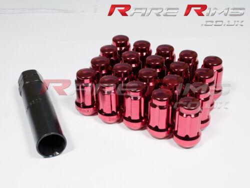 Red Spline Wheel Nuts x 20 12x1.5 Fits Mitsubishi Colt 3000GT GTO FTO L200