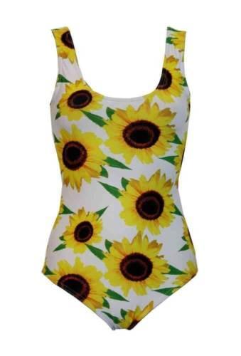 Women/'s splendido GIRASOLE Floreale Costume Da Bagno body Leotard Top Swimwear