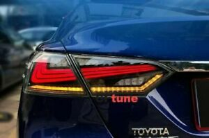 For-Toyota-Camry-Smoked-Red-LED-Tail-Lights-Rear-Lamps-Assembly-2018-2019-Pair