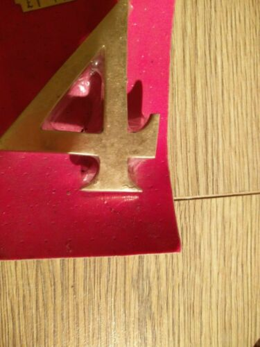 """Polished SolidHouse Flat Apartmen Details about  /JBG Brass Door Numbers /& Letters 3/"""" 75 mm"""