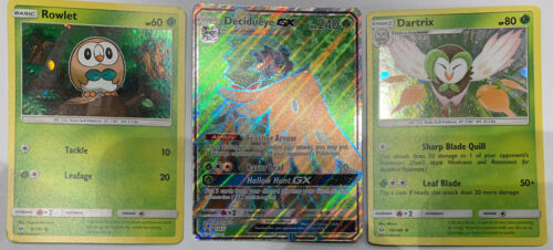 Rowlet Dartrix Decidueye GX Full Art NM Promo SM37 Pokemon TCG