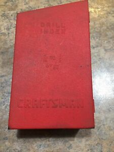 VINTAGE-CRAFTSMAN-DRILL-INDEX-1-16-034-1-2-034-BY-1-64-034-RED-METAL-3-TIER-BOX-BITS