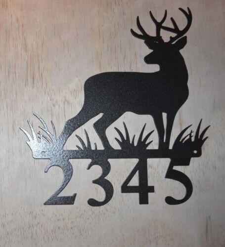 Elk Deer Metal Address Sign 1 2 3 or 4 number signs with mounting screws