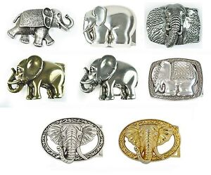 Gürtelschnalle Elefant  gold