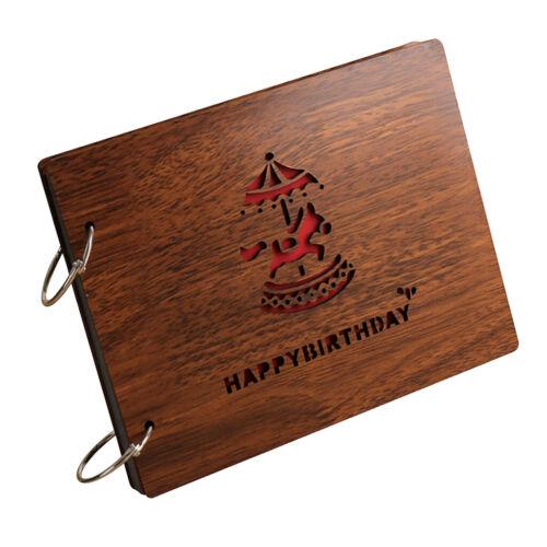 Fotoalbum DIY Holz Album Jahrestag Scrapbook Geburtstaggeschenk