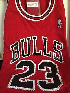 icudys AUTHENTIC Mitchell and Ness 1987 Road Chicago Bulls Michael Jordan