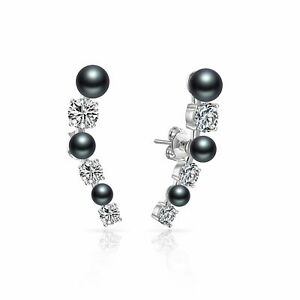 Black-Pearl-Climber-Earrings-Created-with-Swarovski-Crystals