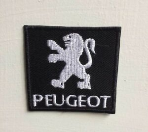 Peugeot car Racing Sport Art Badge Iron on Sew on Embroidered Patch