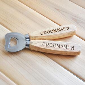 custom beer bottle opener personalized gift engraved wood bottle