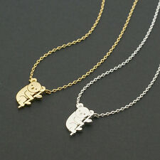 Cute Koala Bear Silver or Gold Plated Necklace Fast shipping from USA