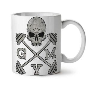 Skull Gym Fitness Sport NEW White Tea Coffee Mug 11 oz | Wellcoda