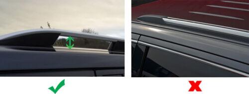 Barras Cruzadas Para Rieles Techo para caber Jeep Renegade 100 kg Con Cerradura 2015+