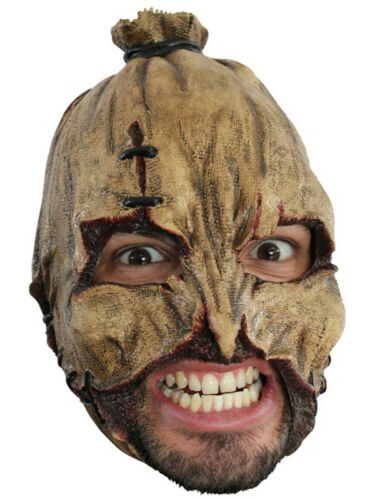 SCARECROW CHINLESS HEAD MASK WITH CHINSTRAP LATEX HORROR HALLOWEEN
