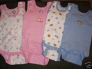 GERBER-Baby-Girl-Boy-Choice-3-6-9-Month-Choice-Onesie-2-Pack-Tank-Sleeveless-NWT