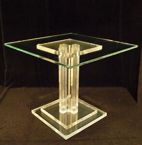 Vintage Architectural Mid Century Modern Glass Geometric
