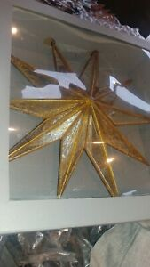 Pottery Barn Christmas Tree Mirrored Star Large Topper New