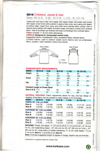 Kwik Sew by Kerstin Martensson Patterns CHOICE Children/'s Pajamas Costumes