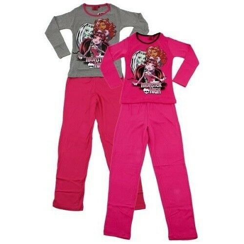 10 years PINK pajamas monster high trousers + t-shirt long sleeves NEW unit