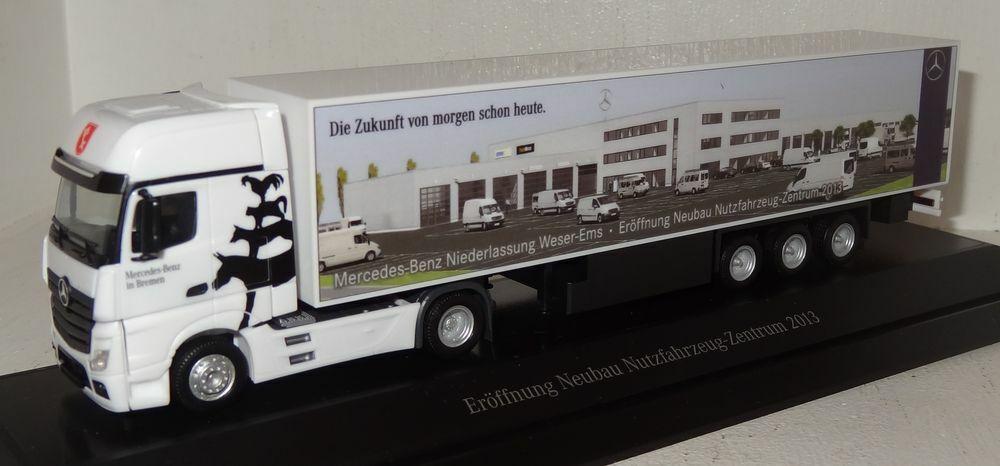 Sb55 Herpa MB Actros SZ  ouverture construction véhicule utilitaire-Centre 2013 PC + neuf dans sa boîte 1 87
