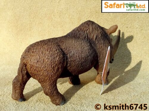 NEW Safari WOOLLY RHINO plastic toy Prehistoric animal rhinoceros DINOSAUR