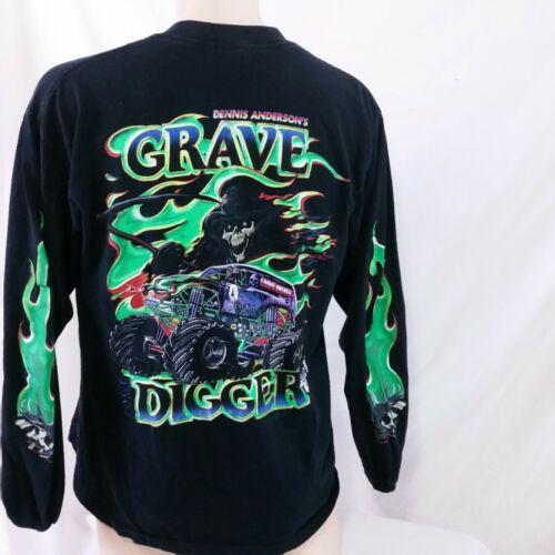 Vintage Grave Digger Long Sleeve T Shirt 90s Denni