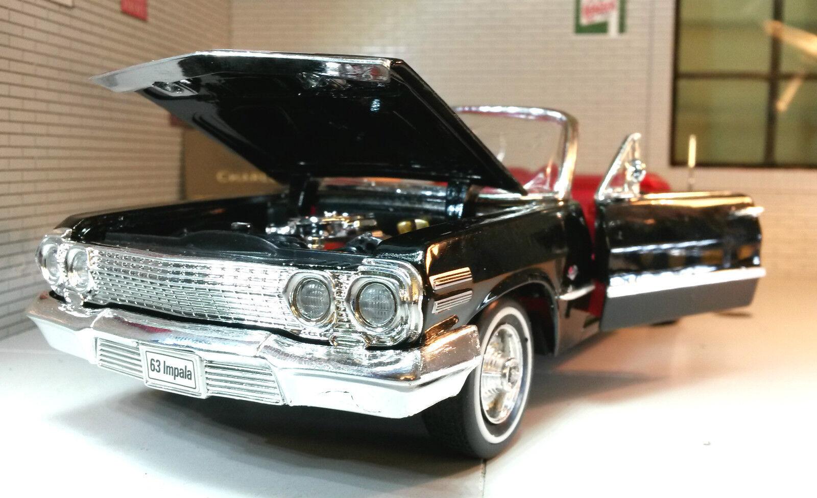 1 24 Scala Chevrolet Impala Cabrio 1963 Welly Pressofuso Dettagliato Vettura