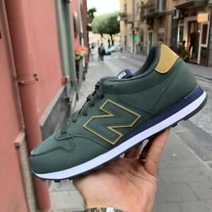New-Balance-500-Scarpe-Sneakers-Sportive-Casual-pelle-Verde-blu-oro-inverno-2019
