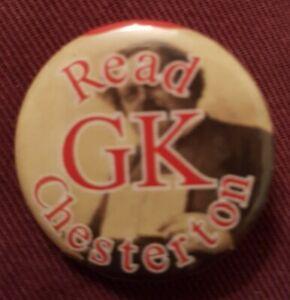 Read GK Chesterton, 1 inch [2.5cm] button badge
