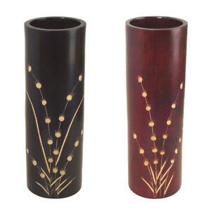 Vase-aus-MANGOHOLZ-H-38cm-Dekovase-aus-Thailand-Holzvase-Mangowood-mango-thai