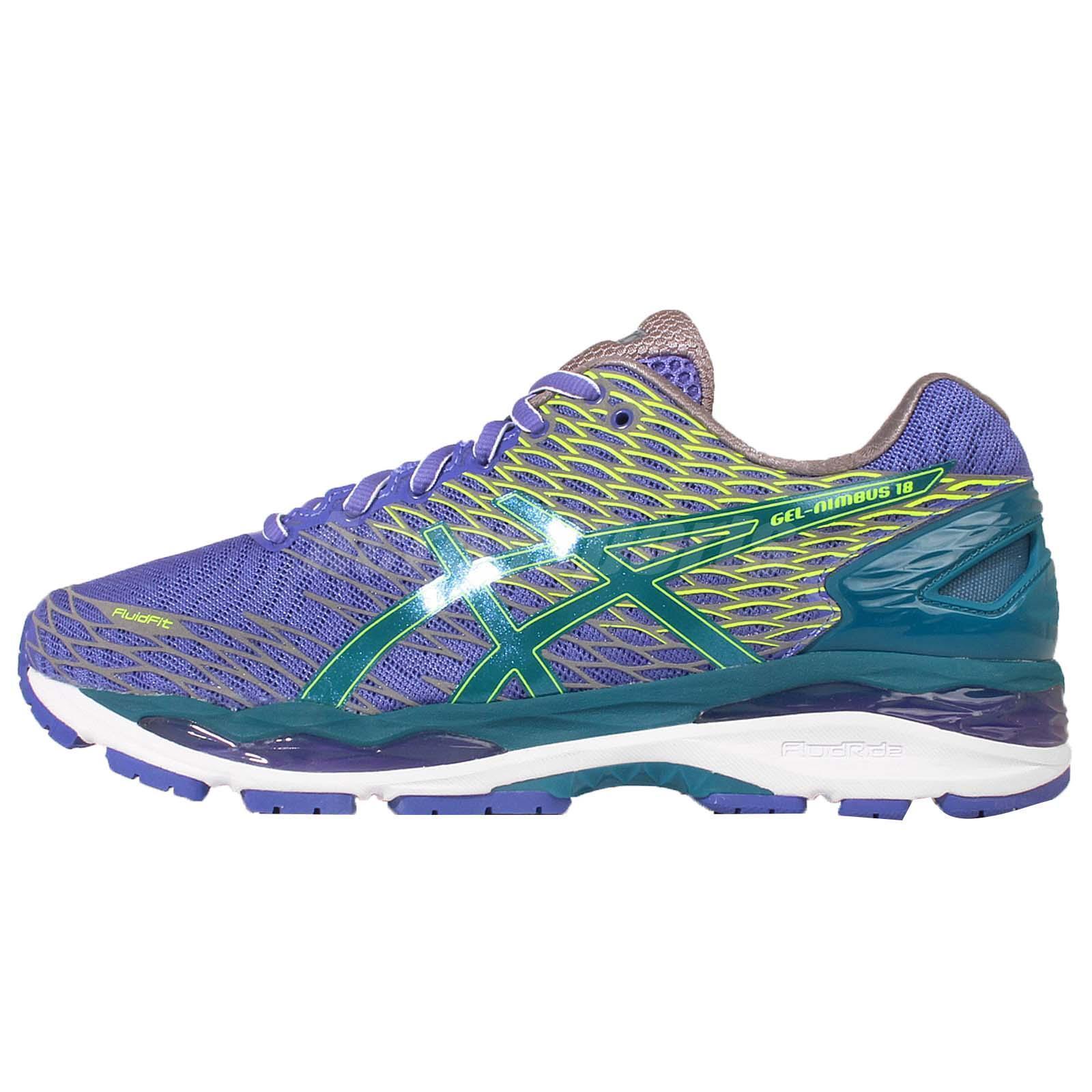 Asics Gel-Nimbus 18 Lite-Show Purple Green Mens Running Trainers T60XQ-5338