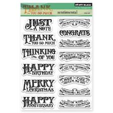 PENNY BLACK RUBBER STAMPS CLEAR SENTIMENTAL SAYINGS STAMP SET