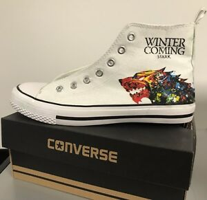 Image is loading Game-of-Thrones-Stark-Adult-Custom-Converse-Shoes- fc21b14312d0