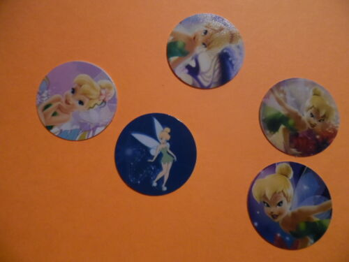Pre Cut One Inch Bottle Cap Images TINKERBELL FAIRY TINK Free Shipping