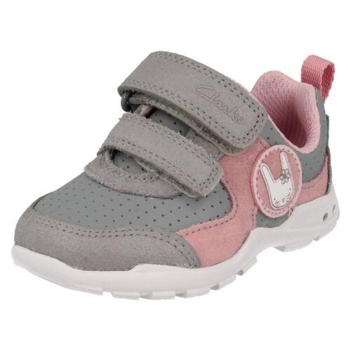 Brite con Girls Wizz entrenadores Infant Primeros gris Casual Clarks Combi luces Gray intermitentes O4868n