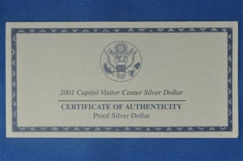 2001 P Proof Capitol Visitor Center Silver Dollar Commemorative Coin