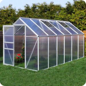 gew chshaus mit fundament aluminium pflanzenhaus garten treibhaus fr hbeet 6mm ebay. Black Bedroom Furniture Sets. Home Design Ideas