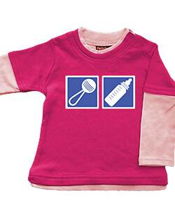 Babybugz-Skate-Layered-Top-Shirt-Baumwolle-Pullover-NEU-rosa-Rassel-3-6-12-18-Mo