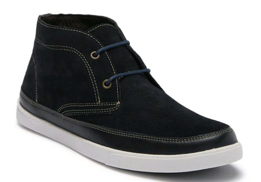 Johnston & Murphy Men's Quinton US 10.5 Navy bluee Suede Chukka Boots shoes