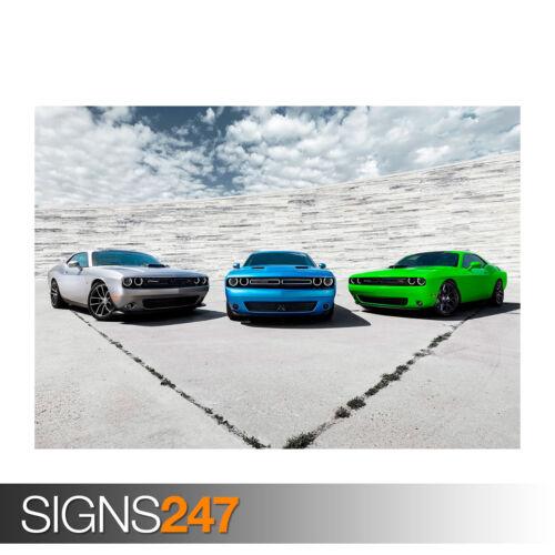 Poster Print Art A0 A1 A2 A3 A4 2015 DODGE CHALLENGER CARS 0118 Car Poster