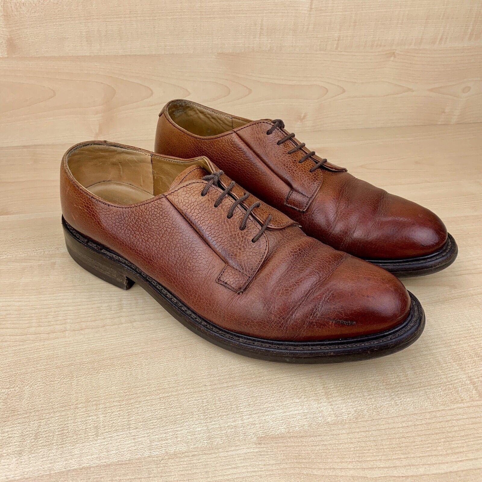 Cheaney 'deal' R, cuero marrón, zapatos de hombre, 8 f hechos a mano en Inglaterra.