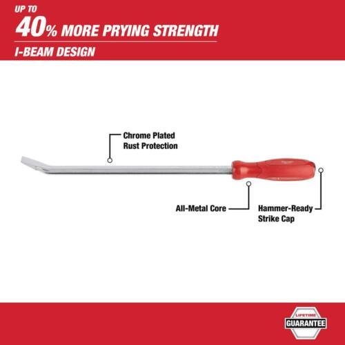 Milwaukee Pry Bar Set Hook Pick Straight Offset Prying Hand Tool Metal 8 Piece