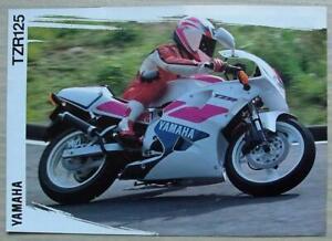 YAMAHA TZR125 MOTORCYCLE Sales Brochure c1993 #3MC-TZR125-93E
