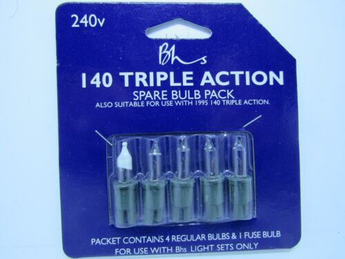 BHS  Xmas bulbs  7v 0.98w clear notched 140 triple action