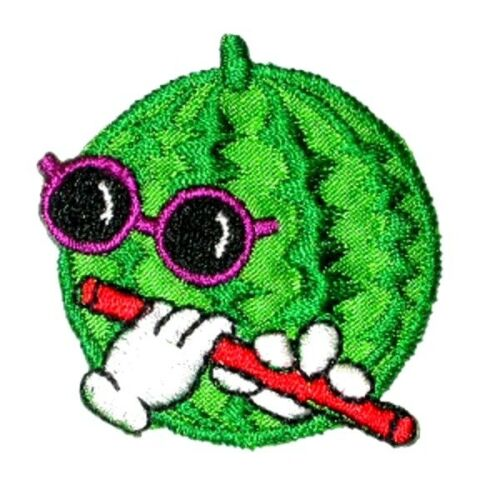 MELON WITH FLUTE IRON ON PATCH APPLIQUE